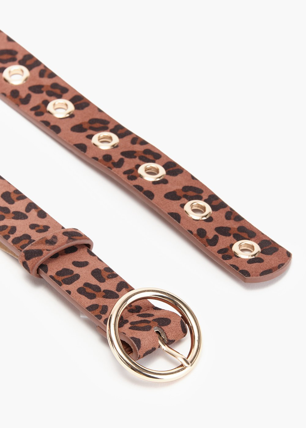 Camy animalier belt in eco suede - Sughero /  Marrone / Animalier - Woman