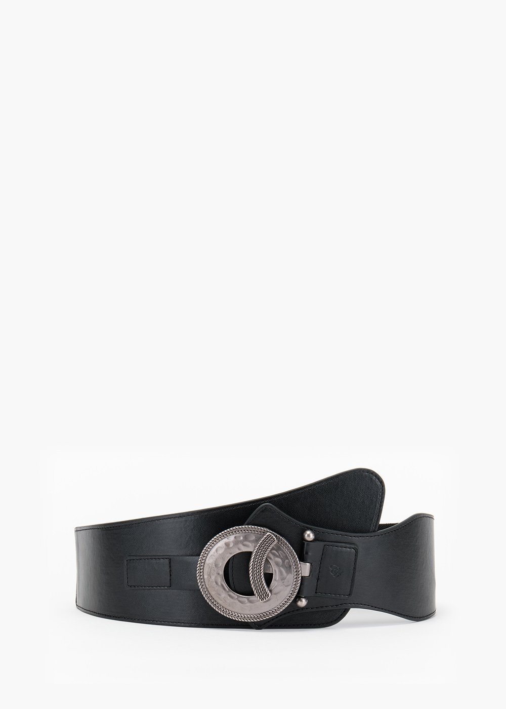 Cherly belt in eco leather with gun metal metallic closure - Black - Woman