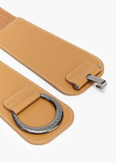 Crissy belt in eco-leather with metal closure and elastic part