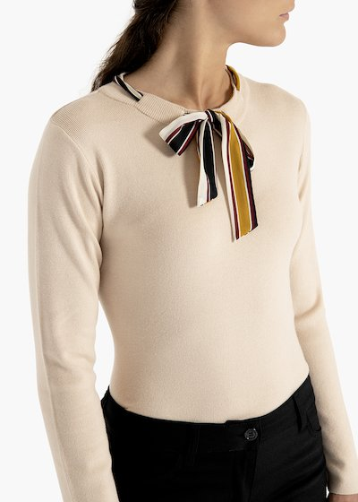 Viscose sweater Melany with striped print scarf
