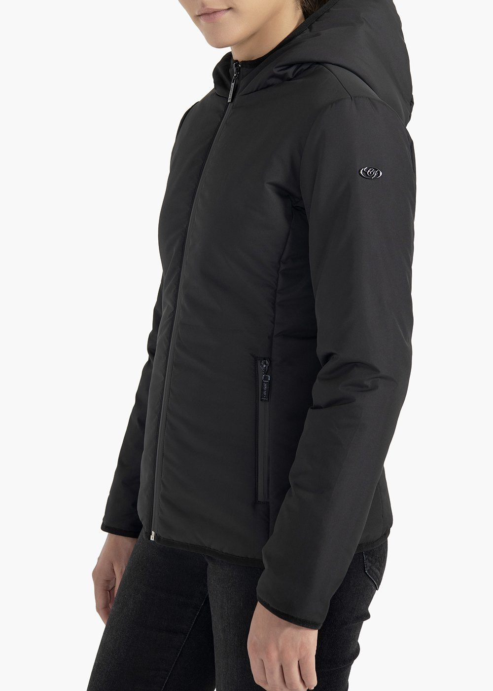 Greg hooded fabric jacket - Black - Woman