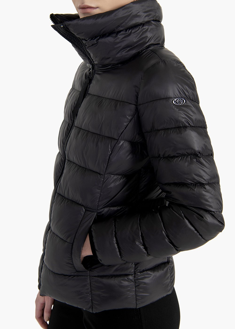 Garret ultralight jacket with high collar - Black - Woman