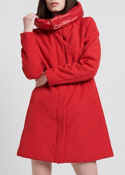 Cappotto in tessuto tecnico con cappuccio