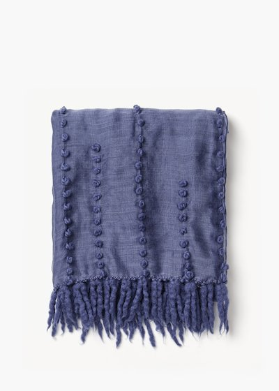 Sharil silk scarf with threading