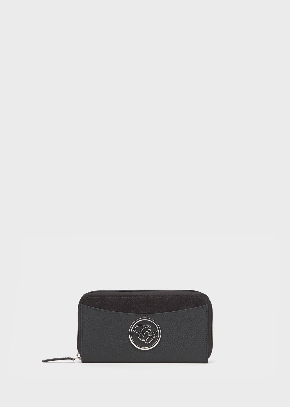 Pier leather wallet - Black - Woman