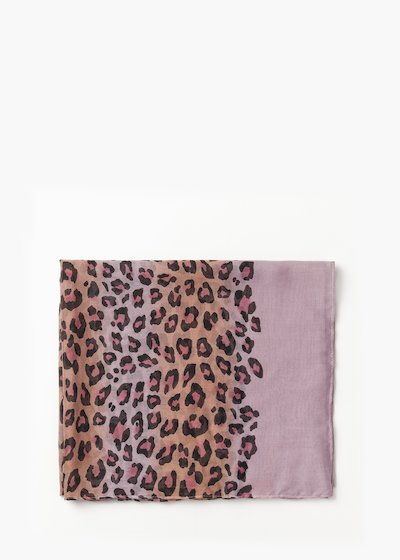 Sady multicolour animalier print scarf