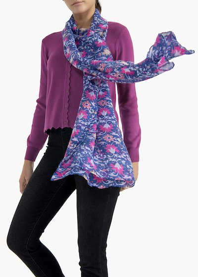 Sybil scarf with flower print