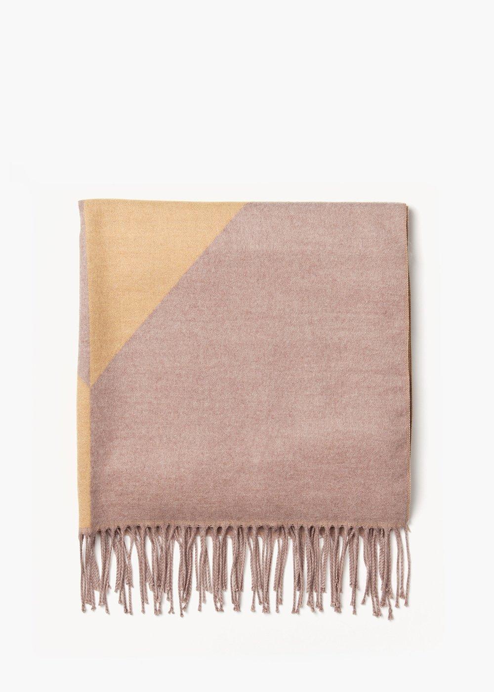 Maxi sciarpa Salley con stampa geometrica - Mais /  Doeskin - Donna