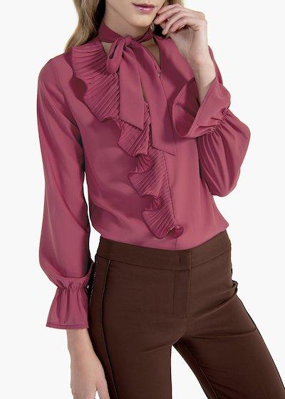 Camicia Cyprien in georgette con scollo a V