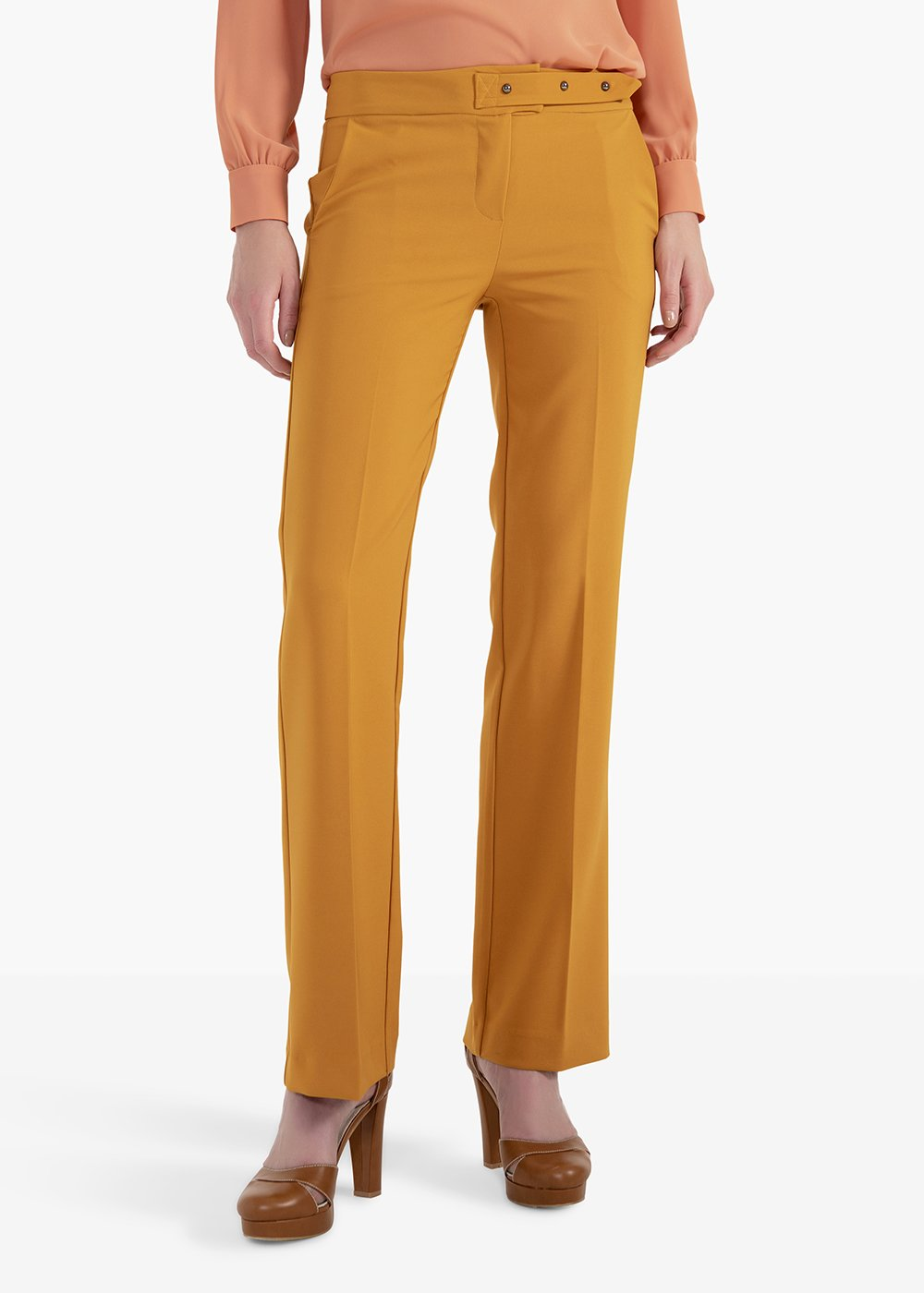 Plius trousers in technical fabric with man pockets - Mais - Woman