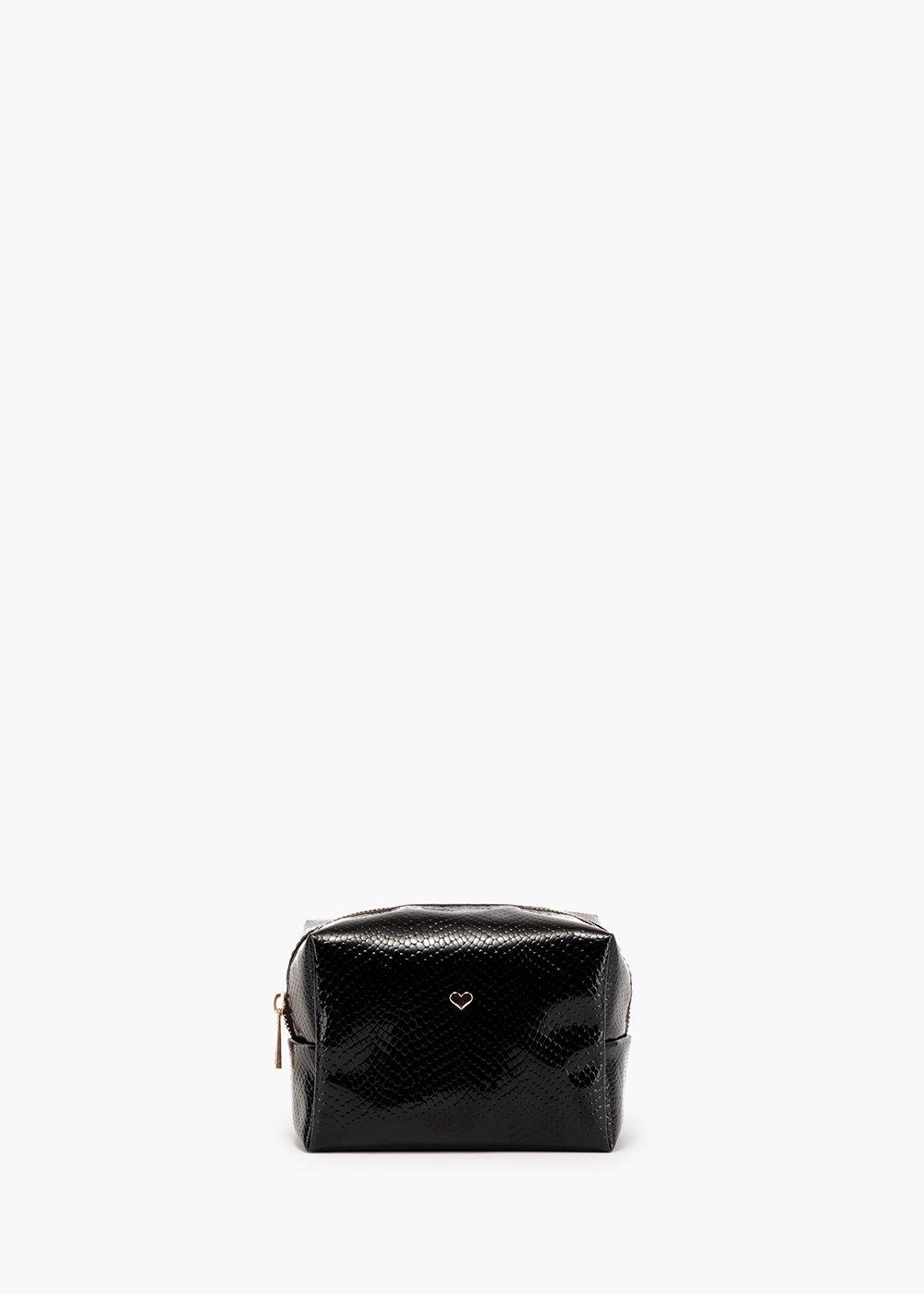 Beauty Blique in faux leather coconut print - Black - Woman