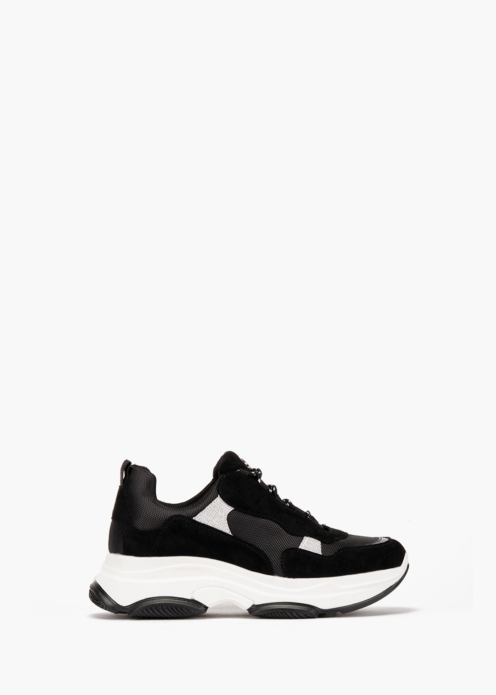 Gym shoes Shayla in eco suede - Black - Woman