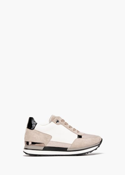 Gym shoes Sherly in faux leather and bicolor eco suede