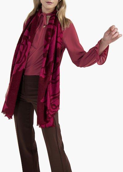 Bicolor roses print scarf Selmar