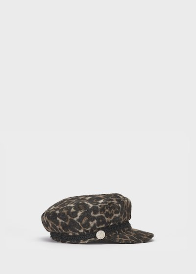 Croy beret with spotted print