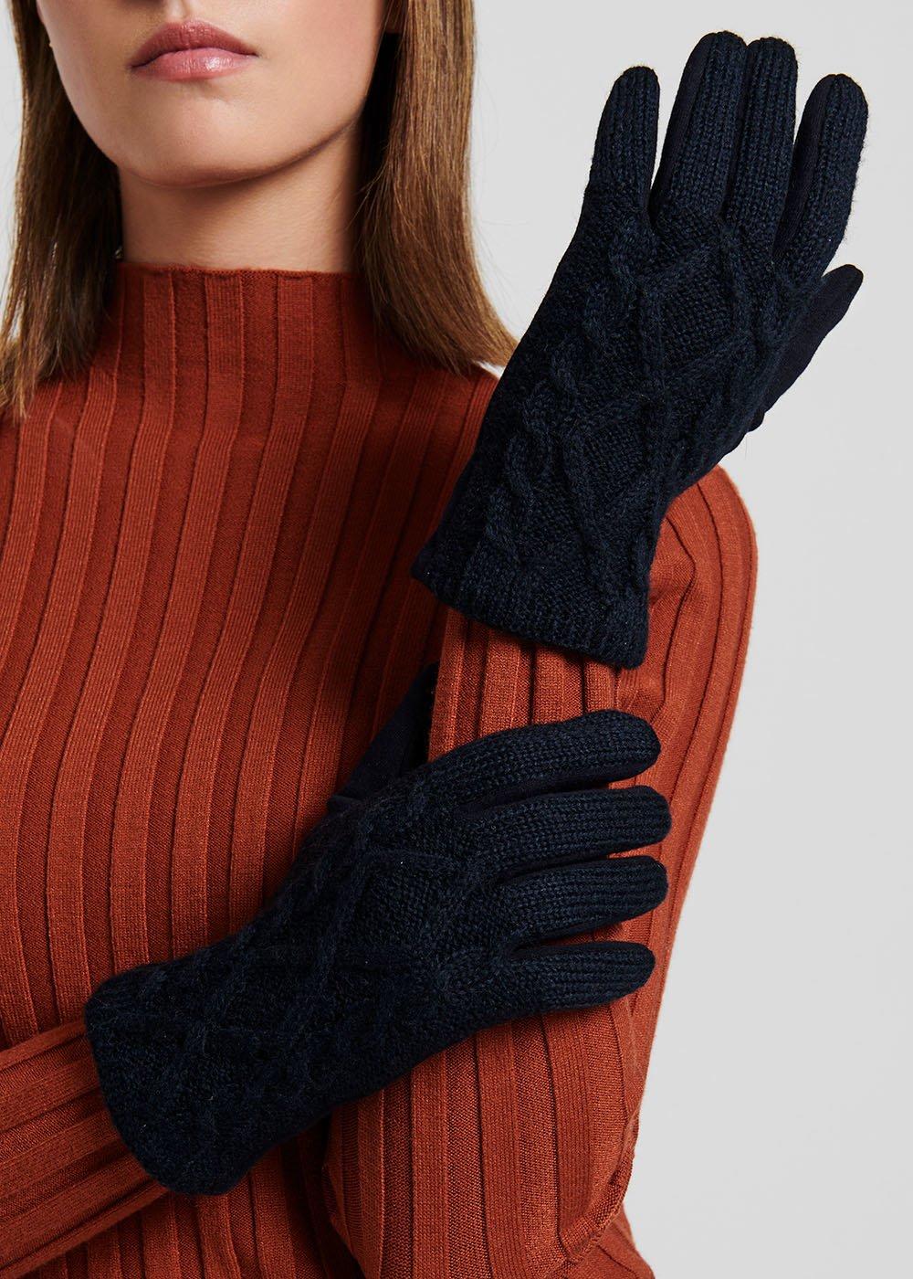 Geky medium blue gloves - Medium Blue - Woman