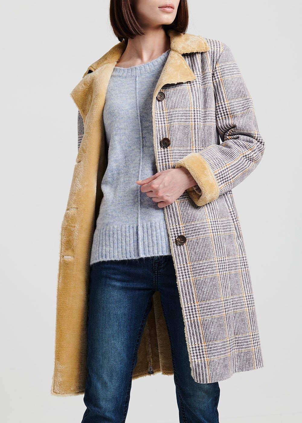 Cappotto modello trench - Mastice / Mais / Fantasia - Donna