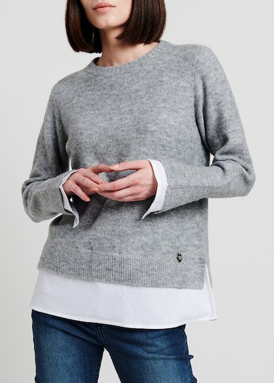 Crewneck melange grey sweater