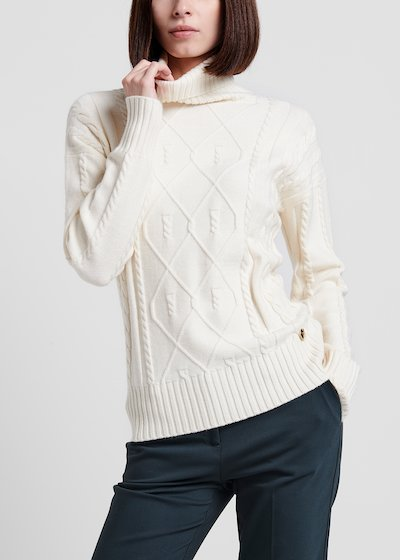 Turtleneck sweater in raw viscose
