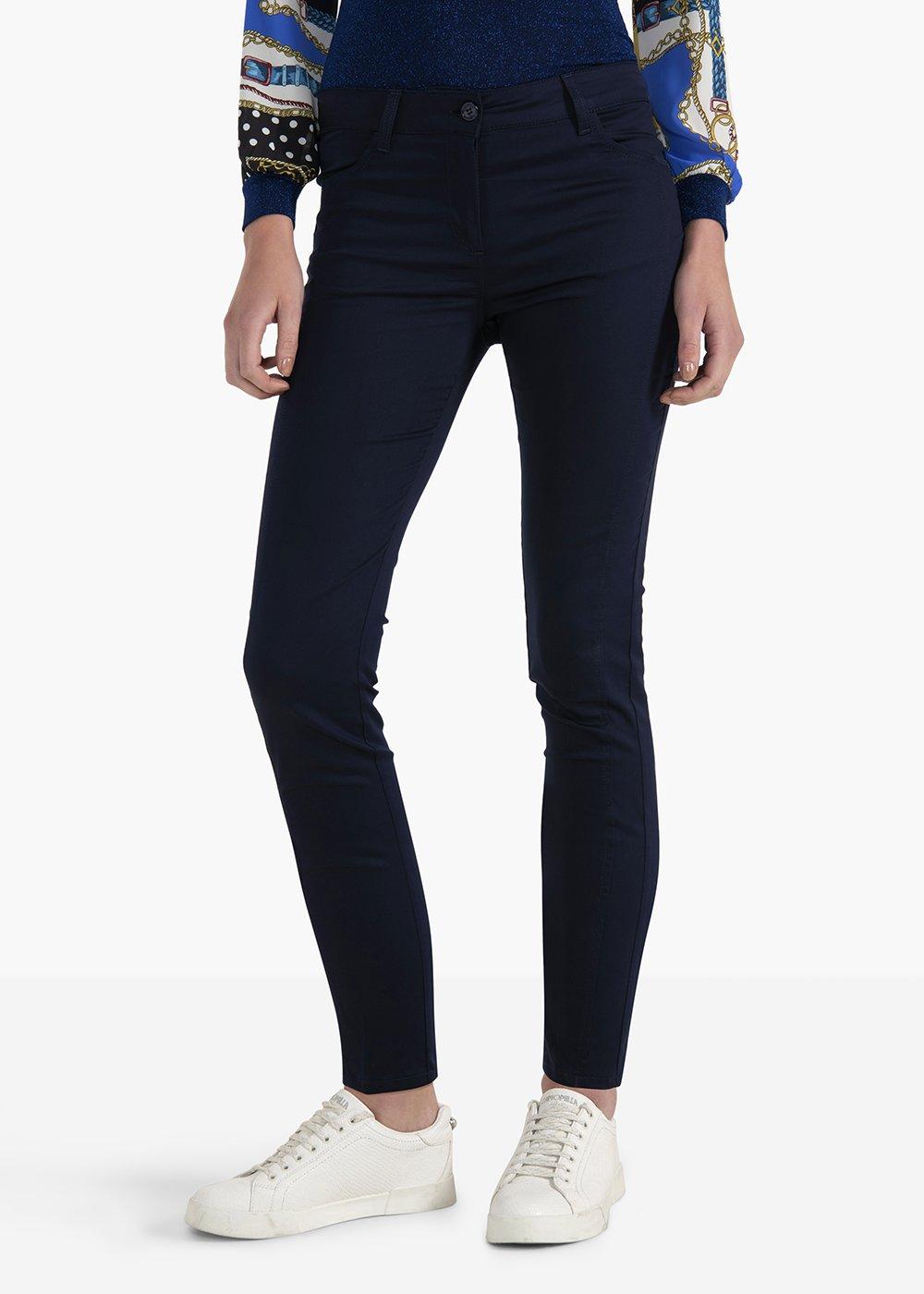 Kate Runner pants in polycotton fabric - Medium Blue - Woman