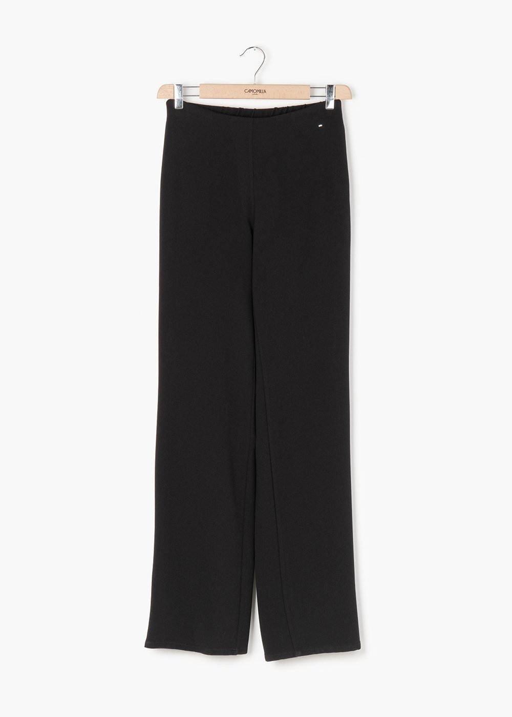 Ashley pants in crepe fabric - Black - Woman