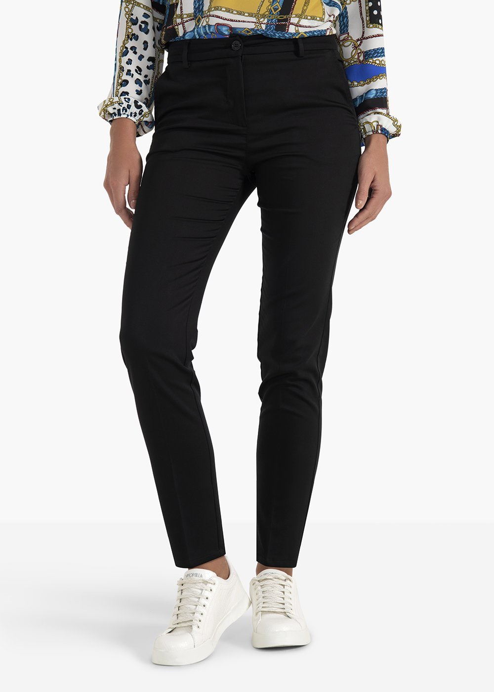 Clair pants Hunter  model in polycotton - Black - Woman