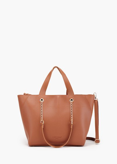 Briant shopping bag in printed eco leather