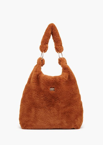 Shopping bag Bright in eco-fur