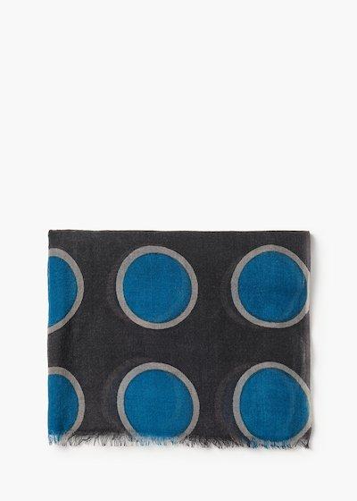 Sciarpa Stone in lana con stampa macro pois