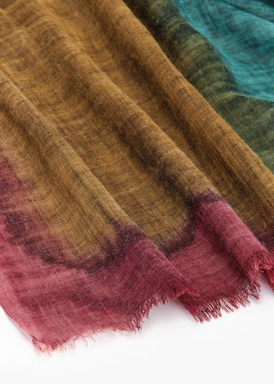 Scarf Still in multicolor wool