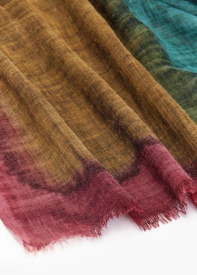 Scarf Still in multicolor wool