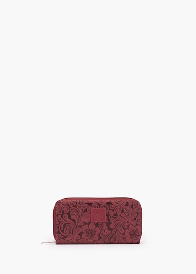 Pixie wallet in flower faux leather embossed