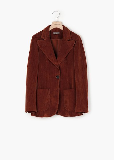 Greta velvet jacket with lapel
