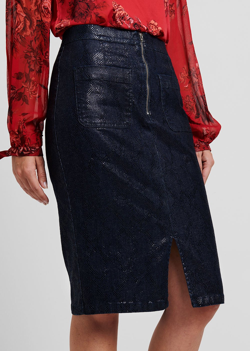 Gilda pencil skirt - Medium Blue - Woman