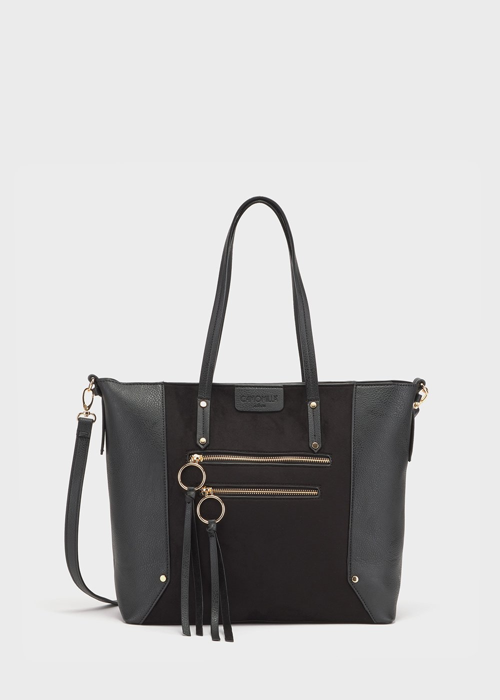 Borsa Beckys in eco pelle - Black - Donna