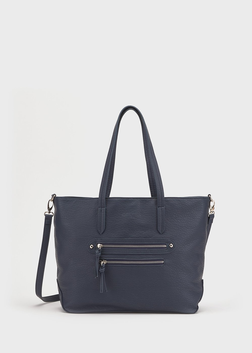 Bicker faux-leather bag - Medium Blue - Woman