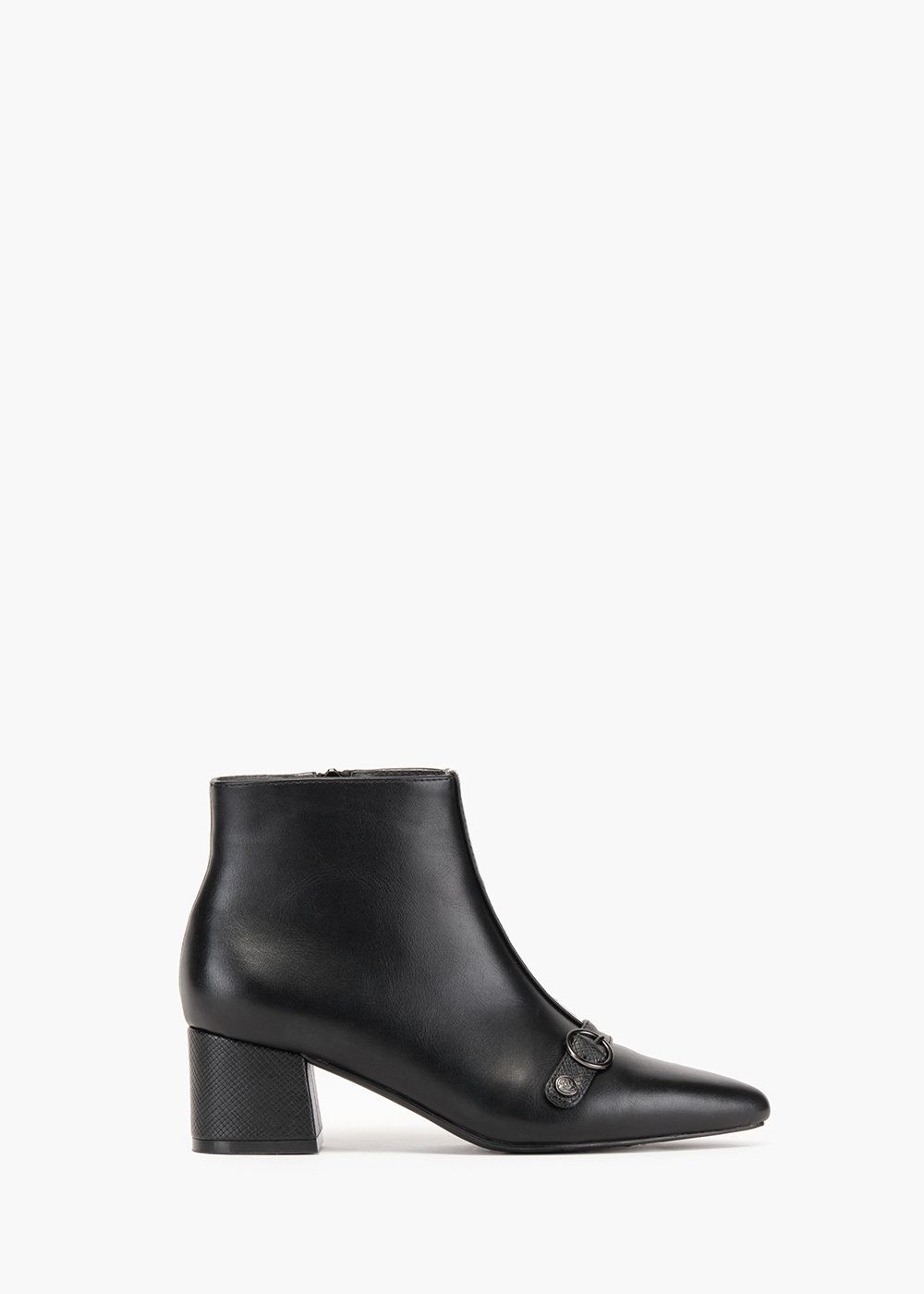 Boots Shear in faux leather with toe - Black - Woman