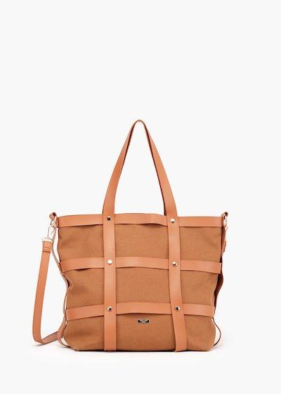Shopping bag Bjor modello gabbia con dettaglio micro borchie