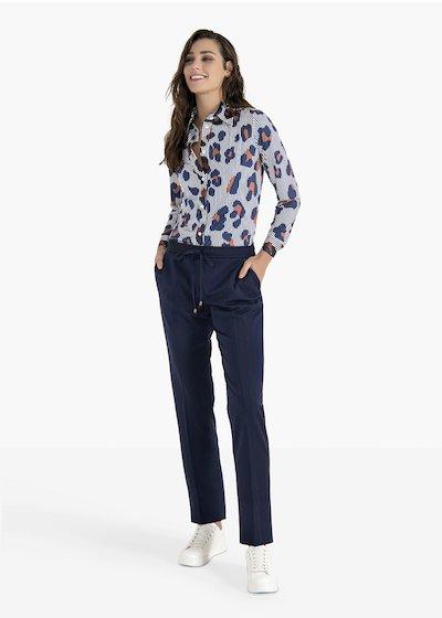 Pantaloni Cara con coulisse e finalini silver