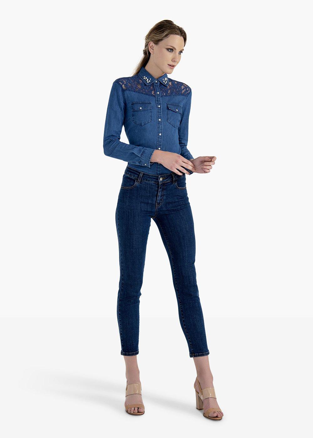 Kate denim trousers 5 pockets - Medium Blue - Woman