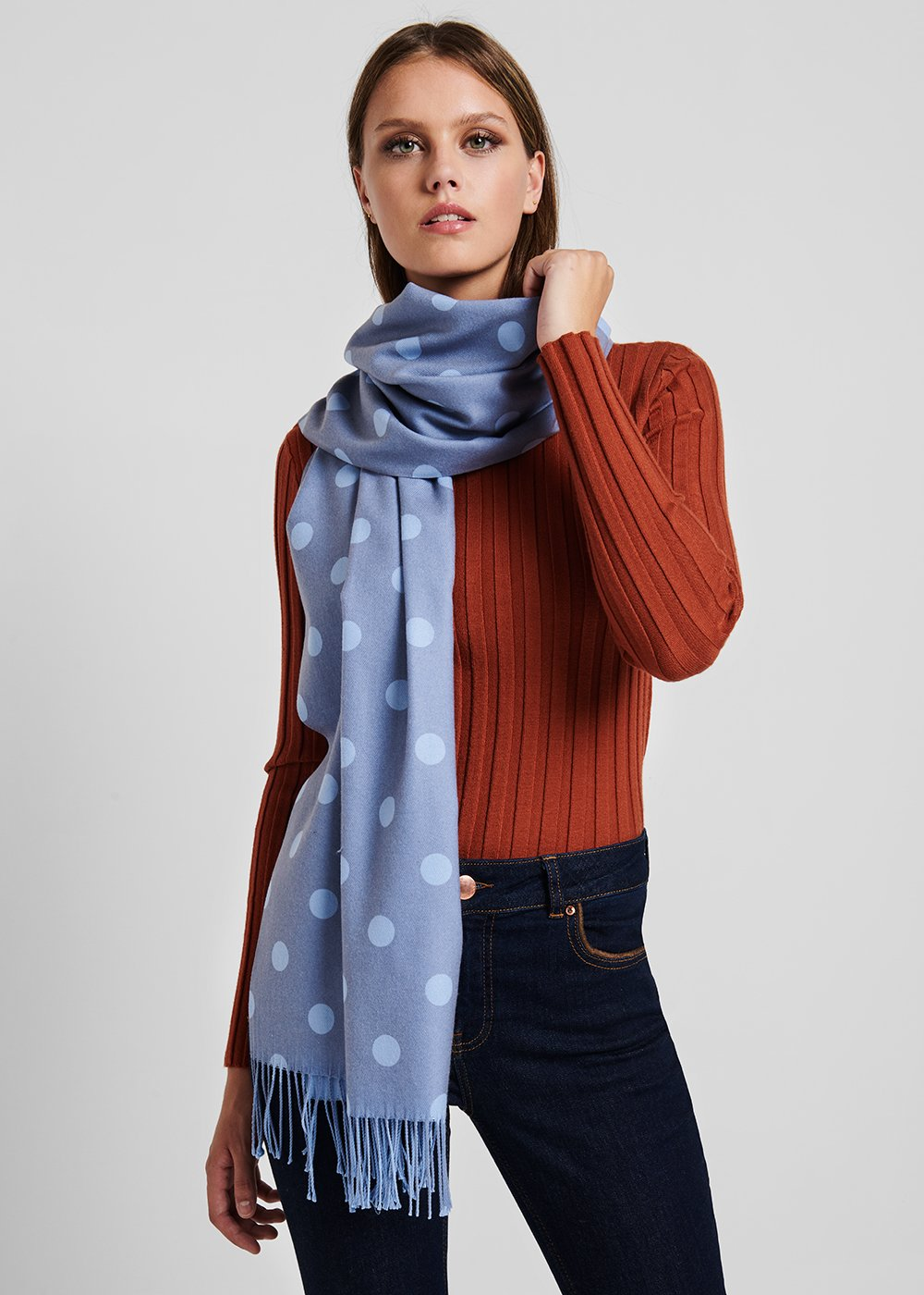 Scarf with material - coloured polka dot pattern - Materia Pois - Woman