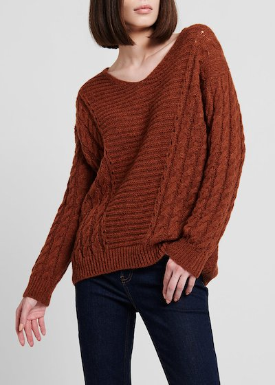 Rust - coloured wool sweater