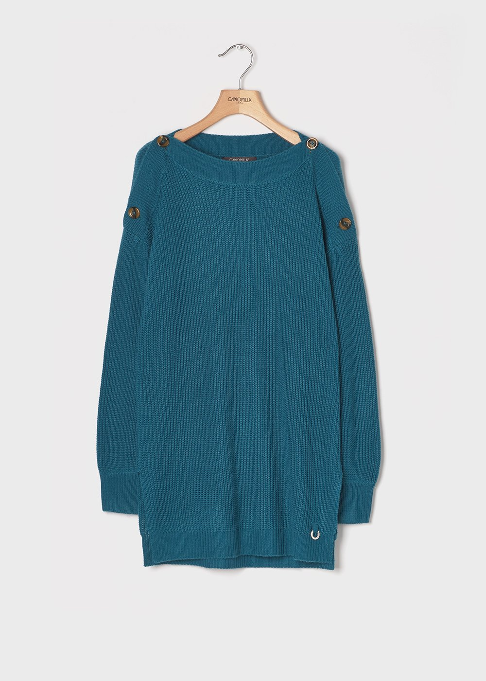 Ground-coloured sweater - Blue - Woman