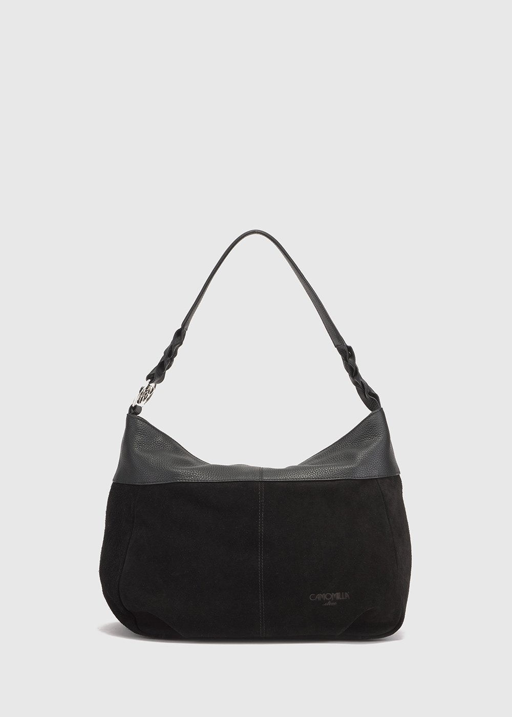 Suede and leather Beamy bag - Black - Woman