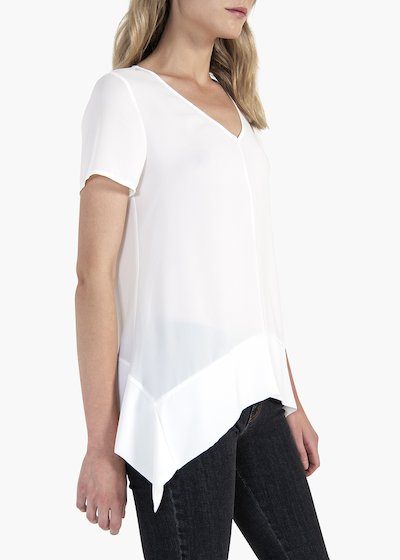 Clia short-sleeved blouse with V-neck