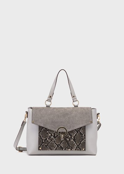 Bahia shopping bag with python front pocket