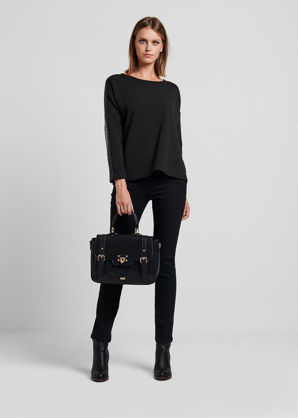 Barry satchel bag - Black - Woman