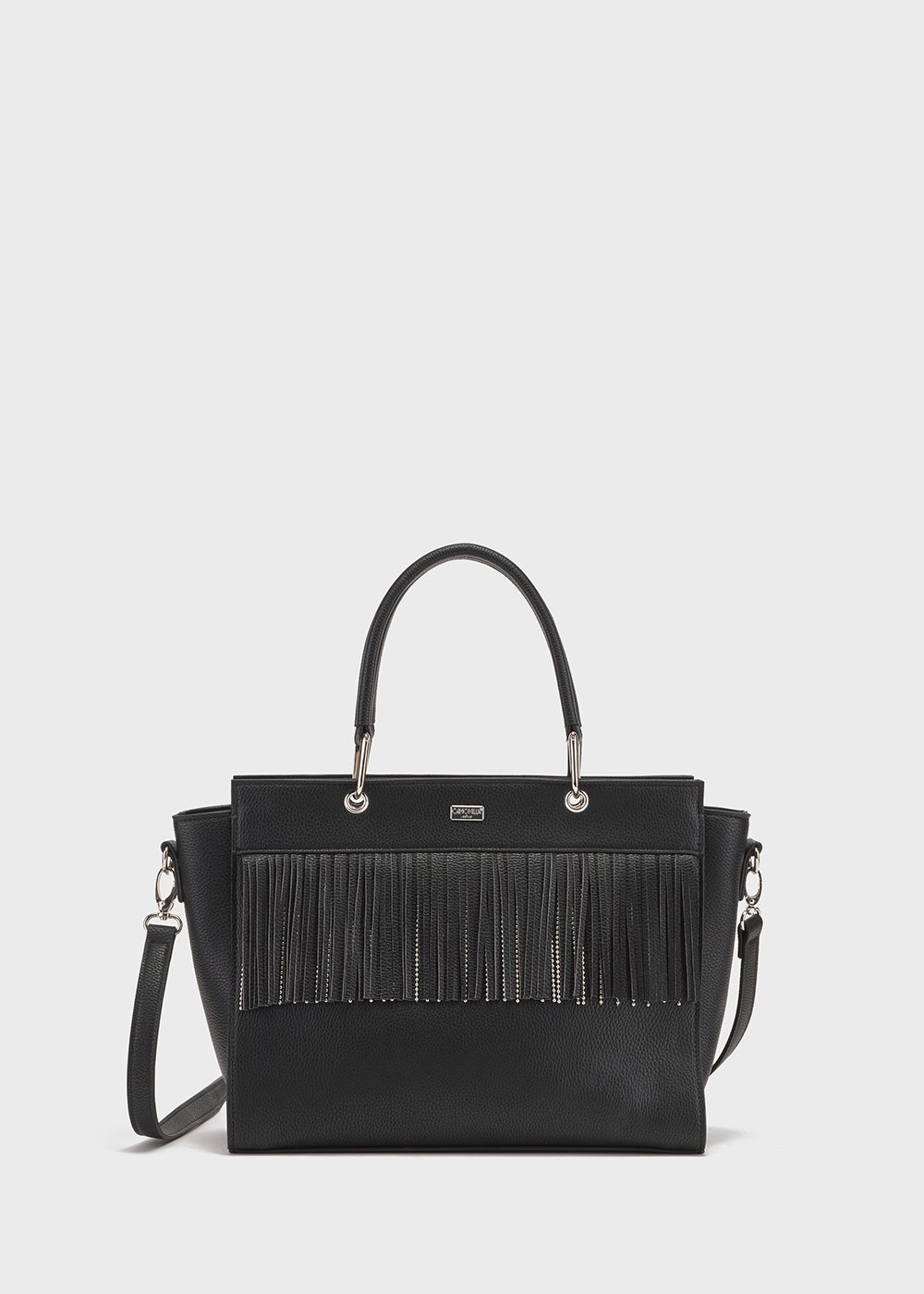Barth bag with fringes - Black - Woman
