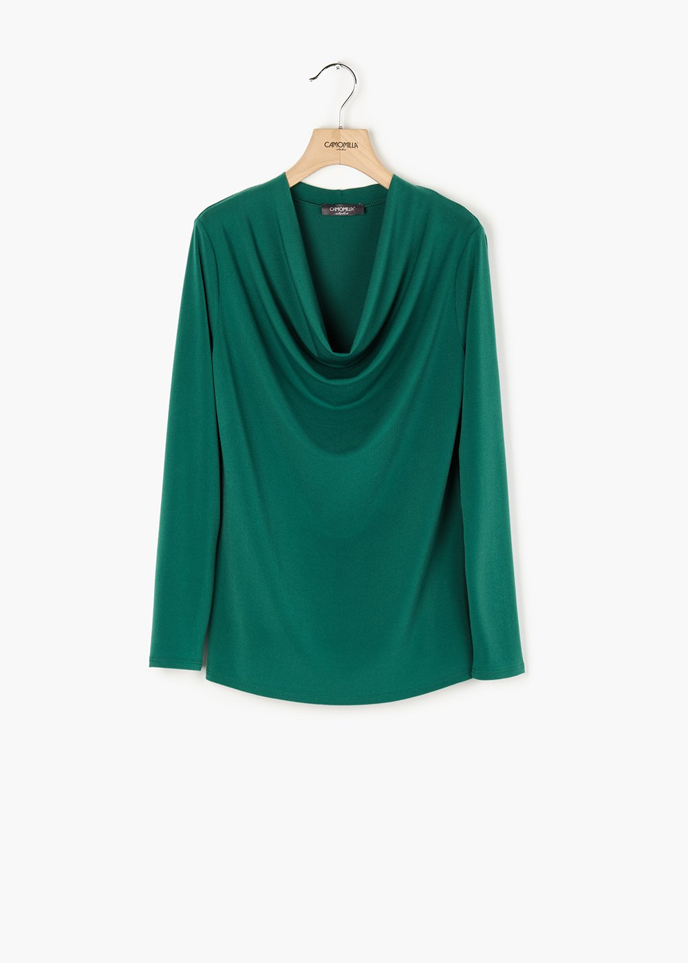 Laura long-sleeved T-shirt with hood neckline - Amazon - Woman