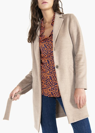Connor coat in viscose cloth with belt